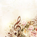 Fashion vector background with roses in vintage style Royalty Free Stock Photo