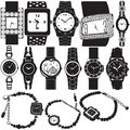 Fashion watch vector Stock Images