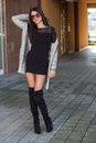 Fashion woman attractive young in a urban shot Stock Image