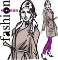 Fashion woman illustration Royalty Free Stock Photography