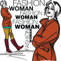 Fashion woman illustration Royalty Free Stock Images