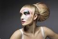 Fashion Woman Make Up, Artistic Model Girl Makeup Face Royalty Free Stock Photo