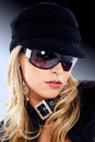 Fashion woman portrait - sunglasses Stock Photos