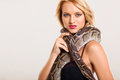 Fashion woman python Stock Photography