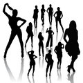 Fashion Woman Silhouettes Royalty Free Stock Images