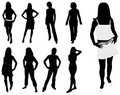 Fashion woman silhouettes Stock Photos