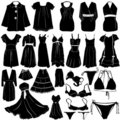 Fashion women dress vector Stock Images