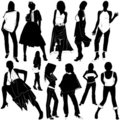 Fashion women vector 3 Royalty Free Stock Photos
