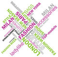 Fashion words Royalty Free Stock Photo