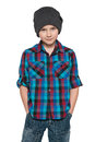 Fashion young boy in the hat Royalty Free Stock Photo