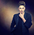 Fashion young model man portrait Royalty Free Stock Photo