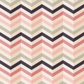 Fashion zigzag pattern in retro colors Royalty Free Stock Photo