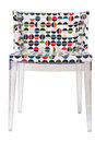 Fashionable chair acrylic isolated on white Royalty Free Stock Images