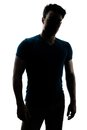 Fashionable male figure in silhouette Royalty Free Stock Photo