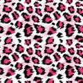 Fashionable Pink Leopard Seamless Pattern. Stylized Spotted Leopard Skin Background for Fashion, Print, Wallpaper Fabric