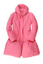 Fashionable pink padded coat long Royalty Free Stock Photography