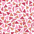 Fashionable seamless pattern with hand-drawn triangles