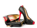 Fashionable shoe and handbag Royalty Free Stock Photo