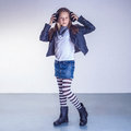 Fashionable teenager girl Royalty Free Stock Photo