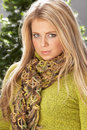 Fashionable Woman Wearing Knitwear In Studio Royalty Free Stock Photo