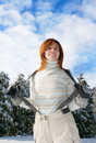 Fashionable woman in winter Royalty Free Stock Photos