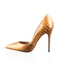 Fashionable women high heel shoe modern shot in studio Royalty Free Stock Image