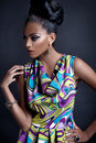 Fashionable young black woman Royalty Free Stock Photo
