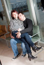 Fashionable young couple Royalty Free Stock Images