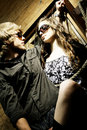 Fashionable young couple wearing sunglasses Stock Image