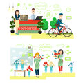 Fast delivery concept vector illustration in flat style