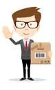 Fast delivery of mail and parcels Royalty Free Stock Photo