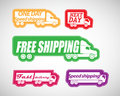 Fast delivery stickers Stock Images