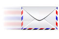 Fast email envelope speed on a white background Stock Photos