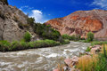 Fast flowing stream in Utah Stock Images