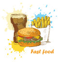 Fast food background Royalty Free Stock Images
