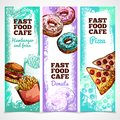 Fast Food Banners Vertical Royalty Free Stock Photo