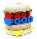 The fast food burger d generated picture of a Royalty Free Stock Image