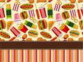 Fast food card Royalty Free Stock Image