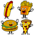 Fast Food Characters Stock Photos