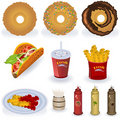 Fast food collection 3 Royalty Free Stock Photography
