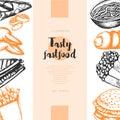 Fast Food - Color Hand Drawn V...