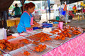 Fast food on the market in Khao Lak Stock Photography
