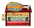 Fast food restaurant illustration of a on a white background Stock Images