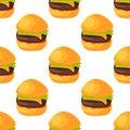 Fast food seamless pattern natural menu restaurant fresh product and kitchen cartoon meal hamburger vector illustration.
