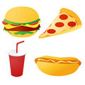 Fast food set vector Royalty Free Stock Photography