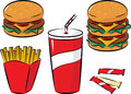 Fast food set Royalty Free Stock Photo