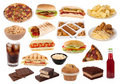 Fast food and snacks collection Stock Photo
