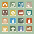 Fast food sticker icon set illustration eps Stock Image