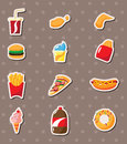 Fast food stickers Stock Image