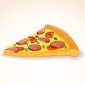 Fast food vector icon slice of pepperoni pizza this is file eps format Stock Photography